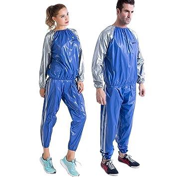 PVC Sauna Suit,Traje de Sudoración Sweat para Fitness Chandal Azul ...