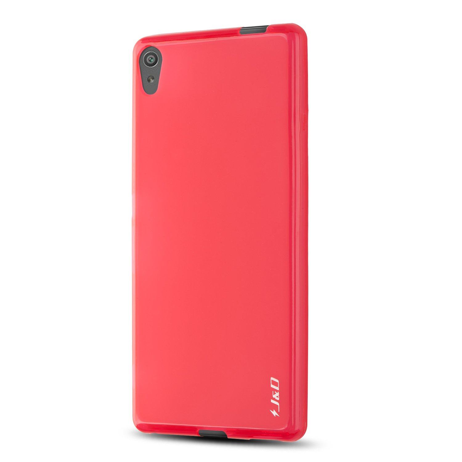 Sony Xperia XA Ultra Case, J&D [Drop Protection] [Slim Cushion] [Lightweight Bumper] Shock Resistant Protective TPU Slim Case for Sony Xperia XA Ultra - Red