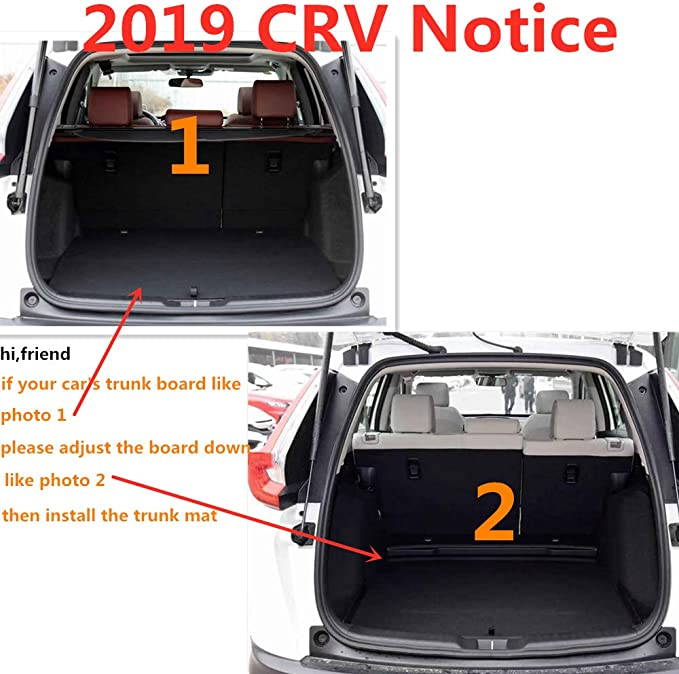 Aiqiying Cargo Liners,Black Heavy Duty/Rubber Waterproof Rear Cargo Tray Trunk Floor Mat Protector Custom Fit/for 2013 2014 2015 2016 2017 2018 2019 Ford Escape