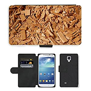 Hot Style Cell Phone Card Slot PU Leather Wallet Case // M00150725 Abstract Background Chip Chips Cut // Samsung Galaxy S4 S IV SIV i9500