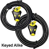 Master Lock - Two Python Adjustable Cable Locks Keyed Alike, 1-20ft, 1-30ft, #8413KACBL-20-30