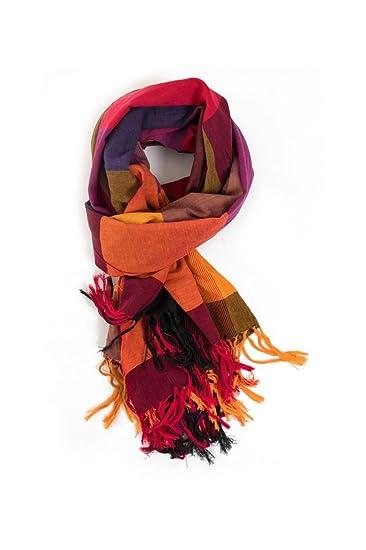 828f6efa0487d FANTAZIA Cheche foulard etole new madras sienna c - taille unique   Amazon.fr  Vêtements et accessoires