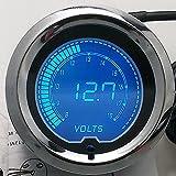 """IZTOSS 2"""" 7 Colors Blue Red LED Car Voltage Meter Auto Digital Volt Gauge 52mm Tint Len"""