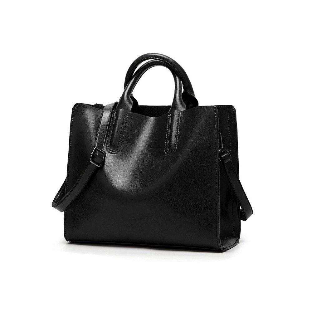 Womens Top Handle Satchel PU Leather Fashion Handbags Leisure Shoulder Bag Tote Purse