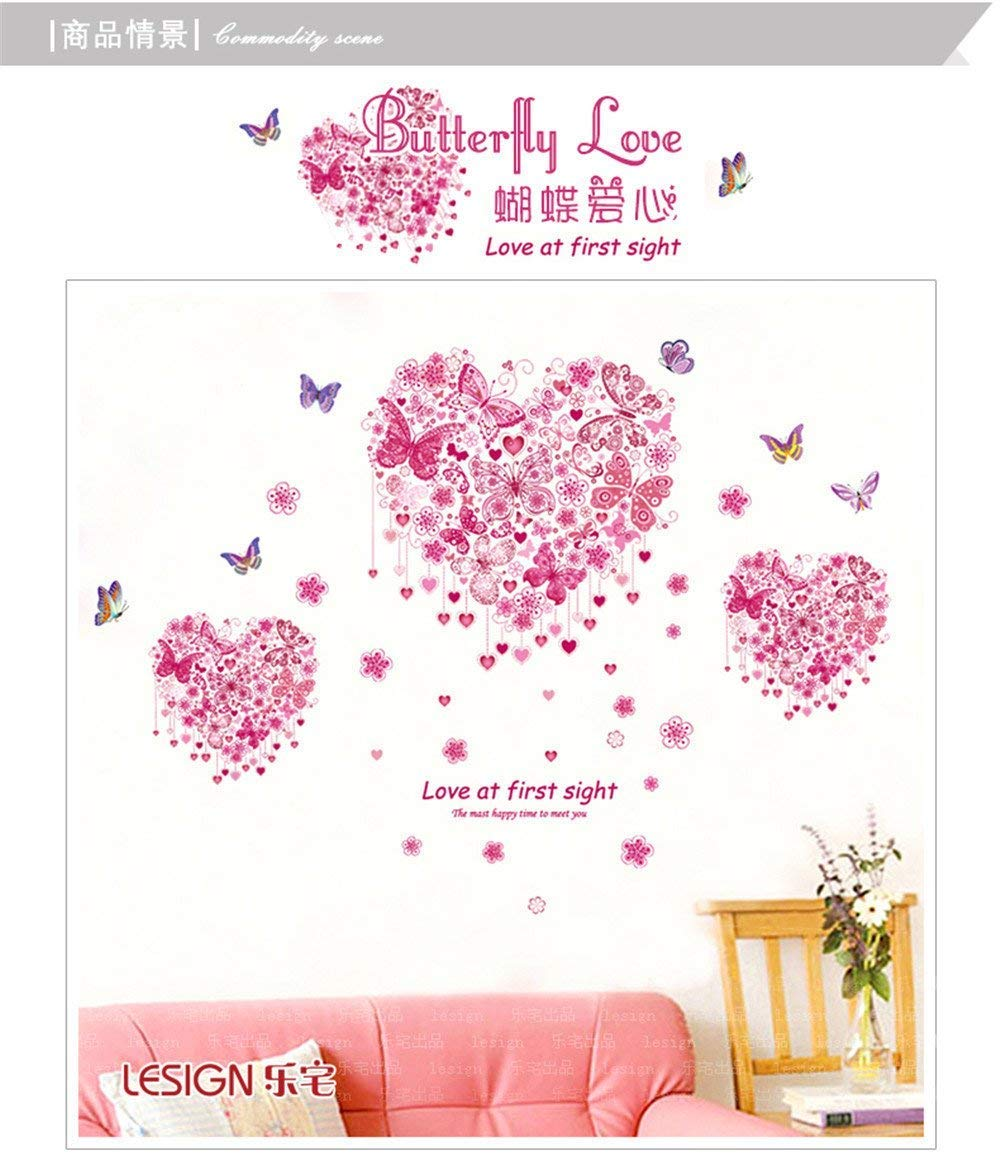 Decorate Your Home Welcoming Marriage Room Decorated Bedroom Happy Love Wall Posters Romantic Living Room Sofa tv Background Butterfly Wall Sticker