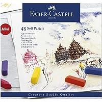 Giz Pastel Seco Macio Curto Goldfaber 48 Cores, Faber-Castell