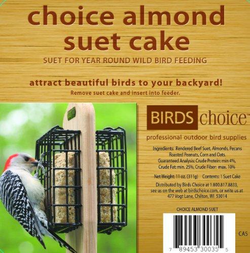 Almond Suet Cake - Birds Choice Almond Suet Cake 11oz.