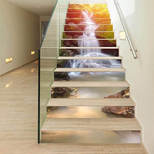 Self-Adhesive Staircase Stair Riser Floor Sticker DIY Wall Decal Letter Pattern