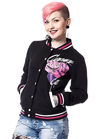 Cupcake Cult Alice Varsity Ladies Baseball Collet Jacket: Amazon ...