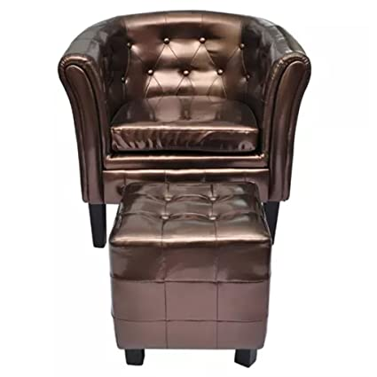 Amazon Com Tidyard Vintage Leather Armchairs Tub Chair With