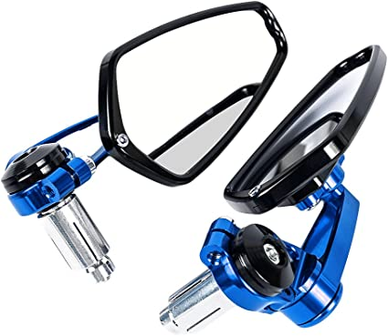 aluminium r/étroviseur extr/émit/é du moto guidon 22mm pour Yamaha pour Kawasaki