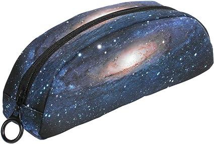 COOSUN Galaxy - Estuche para lapiceros, semicircular, bolígrafo, bolsa, soporte para maquillaje, neceser para mujeres y niñas: Amazon.es: Oficina y papelería