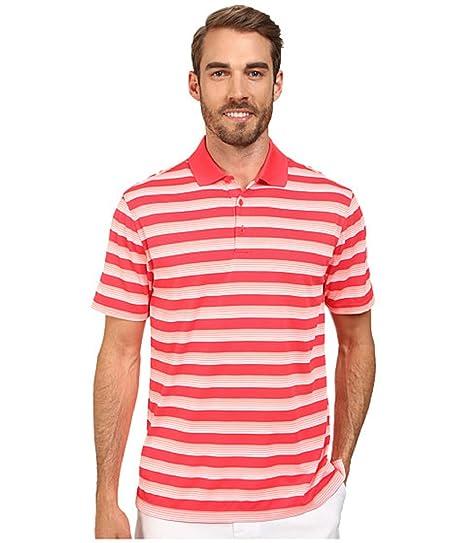 9ffa13d43c Amazon.com: Nike Golf Men's Striped Polo Short Sleeve Shirt Red ...