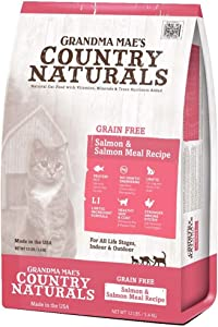Grandma Mae'S 79700181 12 Lb Country Naturals Grain Free Salmon & Salmon Meal Cat Food, One Size
