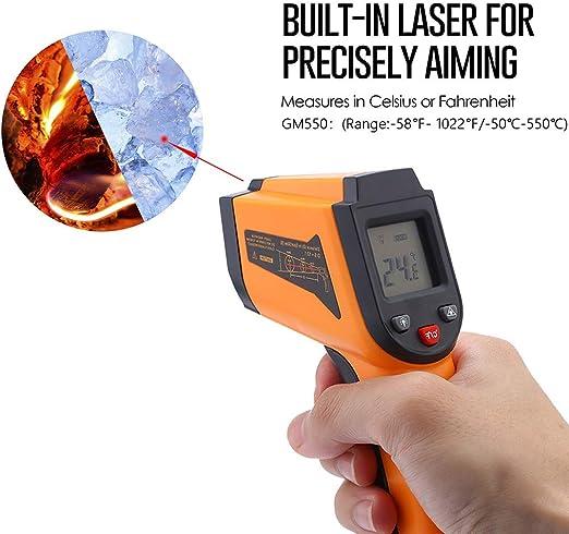 Temperature Gun Non Contact Digital Thermometer Infrared Laser 1022 F