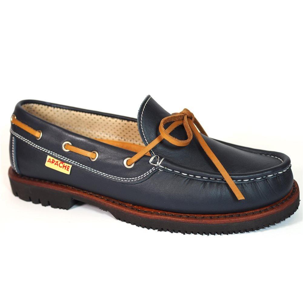 Zapatos Apache 412V Marino/Cuero 41 EU|Marino Zapatos de moda en línea Obtenga el mejor descuento de venta caliente-Descuento más grande