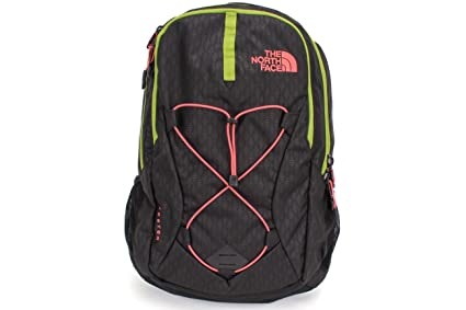 The North Face Women s Jester Backpack TNF Black Emboss/Calypso Coral