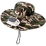 NZBⓇ Sun caps Fan-Cooled Camouflage Baseball Cap hat Solar USB Dual Charging Breathable mesh Wide Side Anti-UV…