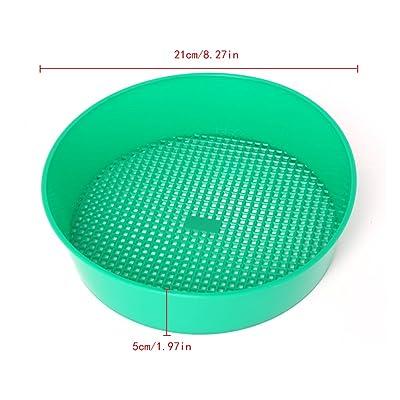 Susada Sifting Pan, Plastic Garden Sieve Riddle Green For Composy Soil Stone Mesh Gardening Tool : Garden & Outdoor