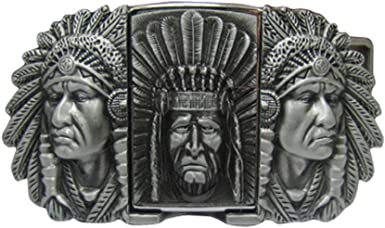 NEW HANDCRAFTED HIGH QUALITY BELT BUCKLE PEWTER INDIAN CHIEF HEAD 3D WESTERN