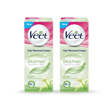 Buy Veet Hair Removal Cream For Dry Skin 25 G Pack Of 2 Online