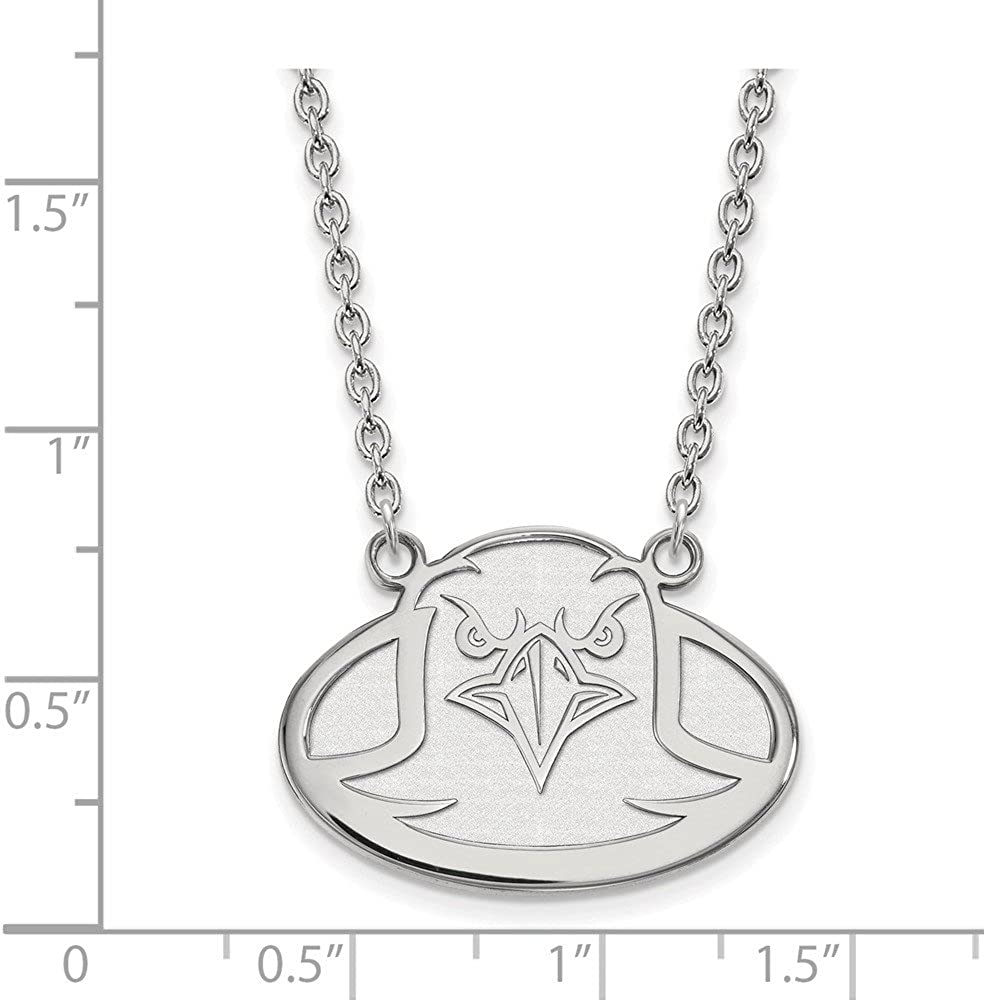 Length 18 in Sterling Silver LogoArt University of Tennessee Large Pendant w//Necklace Sterling Silver