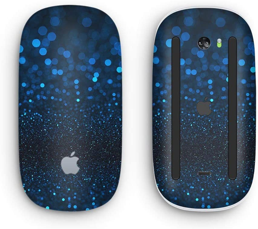 Design Skinz Premium Vinyl Decal for The Apple Magic Mouse 2 with Multi-Touch Surface 50 Shades of Unflocused Blue Wireless, Rechargable