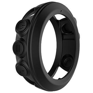 Funda protectora de silicona para smartwatch Garmin Fenix 3, Fenix 3 HR y Quatix 3; a prueba de golpes, negro