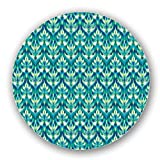 Uneekee Asian Ikat Damask Lazy Susan: Large, pure birch wooden Turntable Kitchen Storage