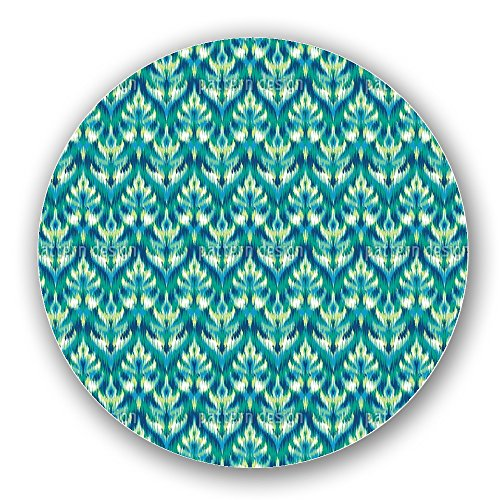 Uneekee Asian Ikat Damask Lazy Susan: Large, pure birch wooden Turntable Kitchen Storage by uneekee