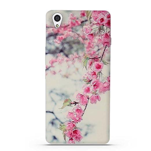 6 opinioni per OnePlus X Cover, Fubaoda 3D Rilievo Bel fiore UltraSlim TPU Skin Cover