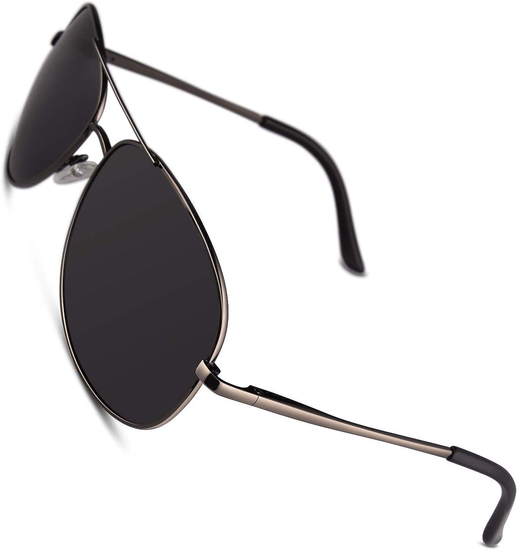 CGID Polarisierte UV400 Schutz Prämie Al MG Metall Rahmen Pilot Sonnenbrille Pilotenbrille Für Herren GA03: Amazon.de: Bekleidung -
