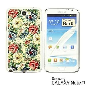 OnlineBestDigital? - Flower Pattern Hardback Case for Samsung Galaxy Note 2 - Vintage Floral Fabric