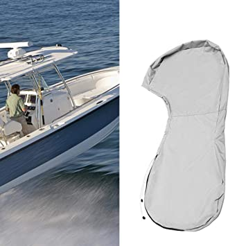 QEES Outboard Motor Cover Heavy Duty Waterproof Motor Hood Cover UV Resistant Anti-Scratch Boat Engine Cover Water Resistant Boat Cover