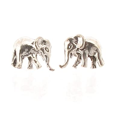 gold p c elephant earrings stud jewelry