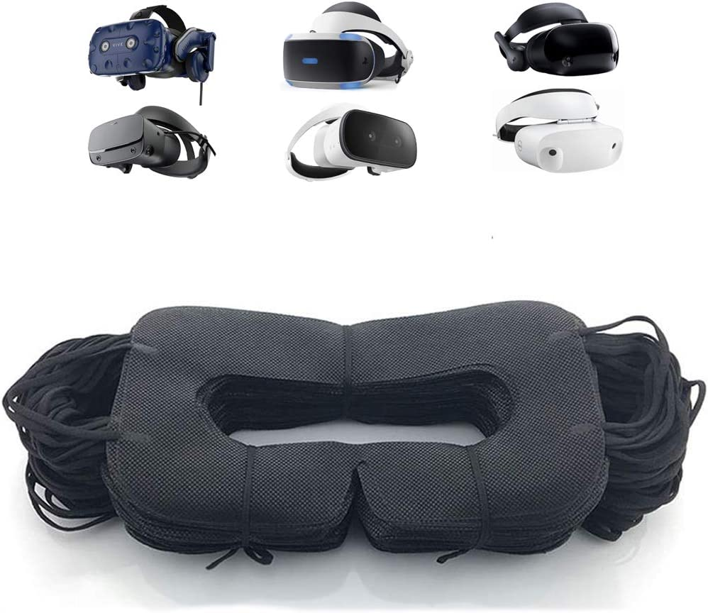 VR Mask Disposable Eye Cover Mask for Oculus/HTC/Gear VR, Prevent Eye Infections ( Black 50 pcs)