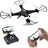 Holy Stone HS110FPV RC Drone with 120° FOV 720PHD Wifi Camera 2.4GHz Live Video 4CH 6-Axis Gyro RC Quadcopter for Beginners and Adults with Altitude Hold, One Key Return Function RTF - Black