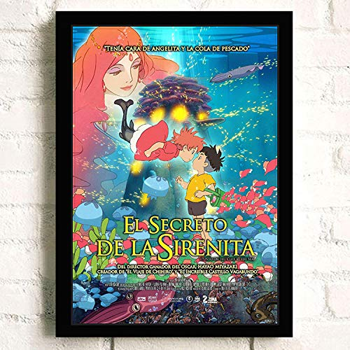 Amazon.com: Póster de la película Ponyo on The Cliff ...