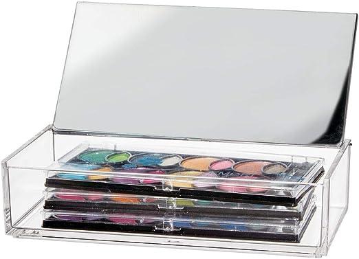 mDesign Organizador de maquillaje – Caja organizadora pequeña para ...