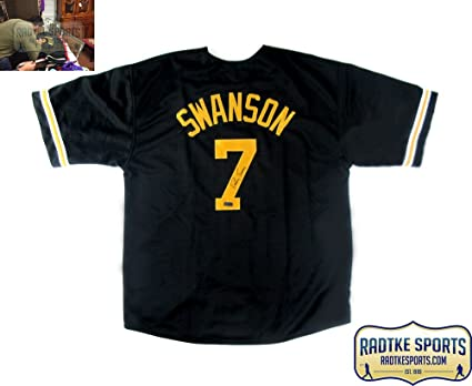 cfdc15d8d Image Unavailable. Image not available for. Color  Dansby Swanson  Autographed Signed Vanderbilt Commodores NCAA Black Custom Jersey