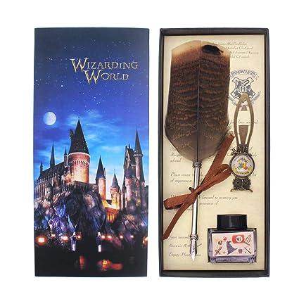 Juego de plumas de búho para los fans de Harry Potter ...