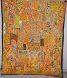 Embroidered Vintage Wall Hanging Heavy Beaded Work Bedspread Cover Tapestry VP-8