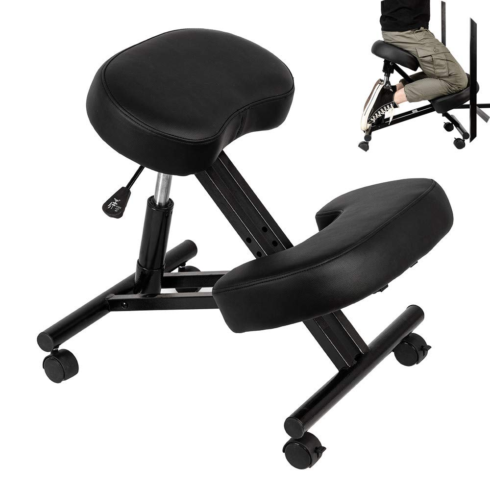 SSLine Kneeling Chair for Improving Posture Hydraulic Kneeling Stool Adjustable Ergonomic Posture Corrective Chair for Work Desk Home Office Cushion Stool Seat - Great for Relieving Back Neck Pain by SSLine