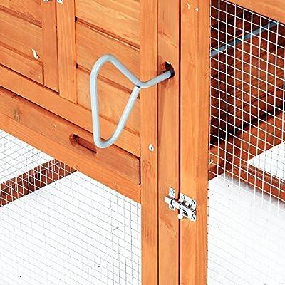 Pawhut Wooden Chicken Coop w/ Nesting Box and Outdoor Run