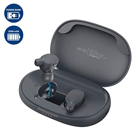 Wireless Earbuds Bluetooth Headphones RIVERSONG True Wireless Stereo Auto Pairing Mini in-Ear Sports Earphones Bluetooth 5.0 Headset Hi-Fi Sound for Running Gym Workout with Mic 2000mAh Charging Case