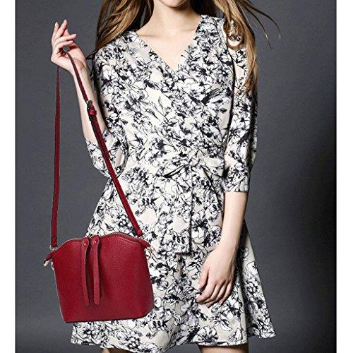 PU européen féminin Sac L à Couleur bandoulière américain à bandoulière Sac bandoulière à sac bandoulière à des sac femmes et Red taille sauvage sac dFZIrZqwx
