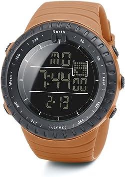 Logobeing Digital Reloj Deportivo, Reloj Militar Hombre Cuarzo España Negro Ejército Digital de Los Deportes Moda (Naranja): Amazon.es: Deportes y aire libre