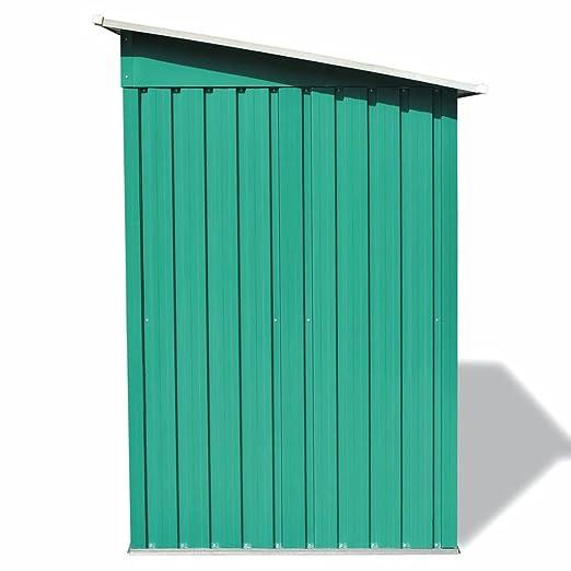 vidaXL Caseta Jardín Metal 190x124x181 cm Verde Cobertizo Galpón Organizador: Amazon.es: Bricolaje y herramientas