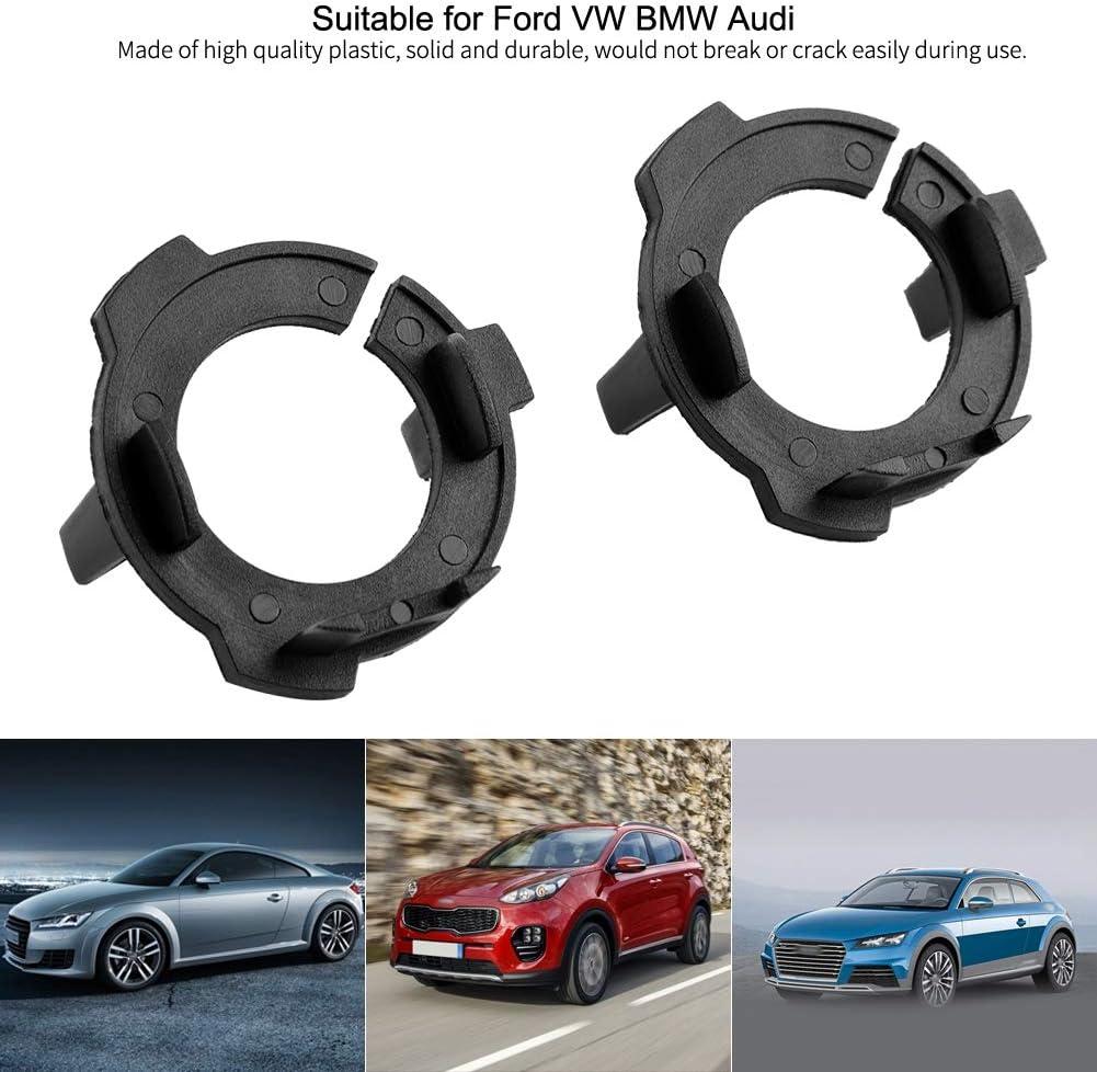 Aramox Headlight Bulb Retainer Universal 2pcs H7 LED Car Headlight Bulb Adapter Base Retainer Holder Fitment for Fitment ford VW BMW Audi