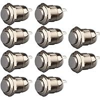 Gebildet 10 st vattentät tryckknapp momentär rostfritt stål tryckknapp på av 12 mm 2A 12 V/24 V/125 V/250 V AC (högt…